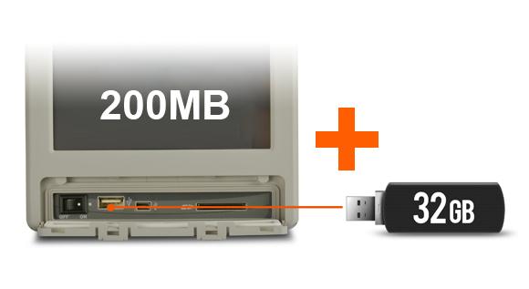 200MB + 32GB