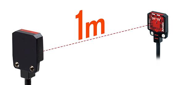 最大检测距离为1米