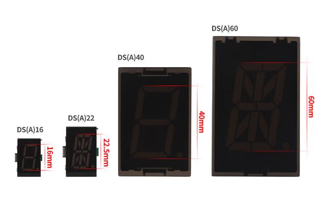 DS (A) 16 : 16mm, DS (A) 22 : 22.5mm, DS (A) 40 : 40mm, DS (A) 60 : 60mm