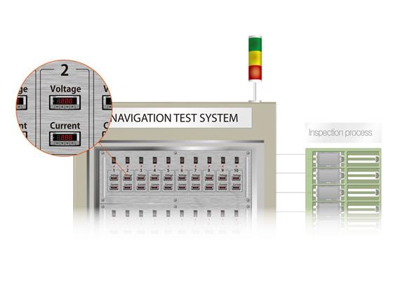 用于測量和顯示LCD檢測機器上的過程電壓和電流