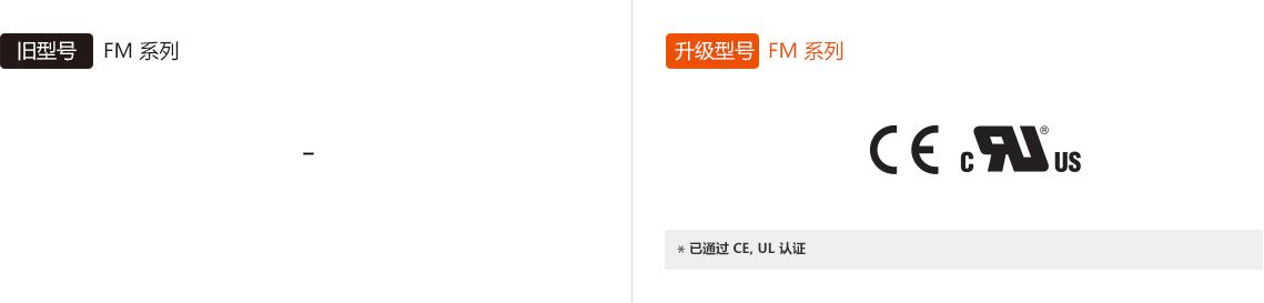 旧型号 : FM Series, 升级型号 : FM Series *已通过 CE, UL 认证