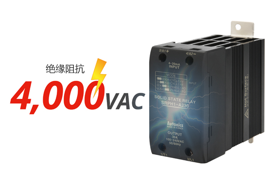绝缘阻抗 : 4,000VAC