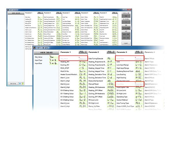 用戶參數組設定功能
